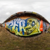 graffiti wall HDRI