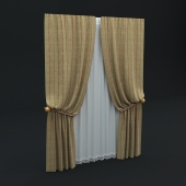 Curtains with tulle / Curtains with tulle