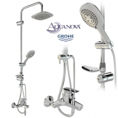 Shower set GROHE faucet and AQUANOVA