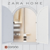 Zara Home mirror in a wooden frame 'SHUTTERS'