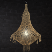 Chandelier made of ropes