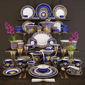Сервиз Rosenthal Versace, Medusa blue