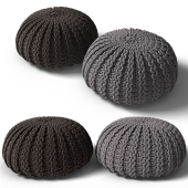 Knitted poof 2