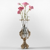 classic elegant vase of garden roses