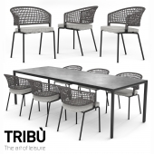 TRIBU Contour Armchair and ILLUM table