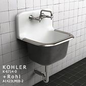 Kohler K-6714-0 + Rohl A1423LMIB-2