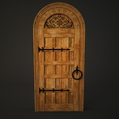 Arched door for wine room