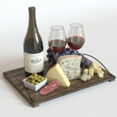 Red Wine & Grapes set