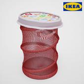 KUSINER Mesh basket with lid, red