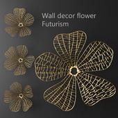 Wall decor flower Futurism