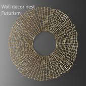 Wall decor nest Futurism