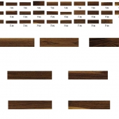 A set of textures for American walnut multitexture map plugin