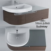 Sink and cabinet Villeroy & Boch Subway