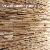ART wall of boards.