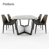 Poliform Concorde desk + chair Grace