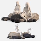 Floor cushions stones №2 (Smarin Factory)