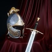 Шлем и меч