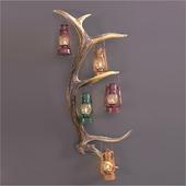 Antler oil lamp