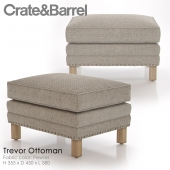 Crate and Barrel Trevor Ottoman