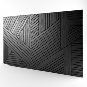 Wall panel in wood