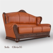 "Triple leather sofa ""Olivia A-95"""