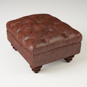 Claverdon Semi-Aniline Leather Footstool