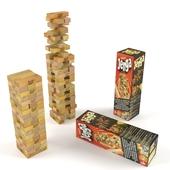 A board game Jenga