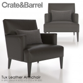 Crate and Barrel Tux Leather Armchair
