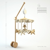 Musical mobile to the cot