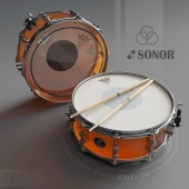 "Малый барабан Sonor Force 3007 14-inch Snare drum maple/ John Bonham edition ""на конкурс """