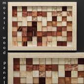 mosaic wood panel