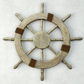 Large Marine Ship Wheel Nautical Decor