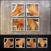 Framed Slab Wall Tiles (Set of 4)