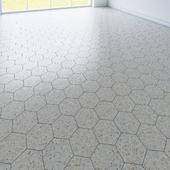 hexagon tile. 3 types