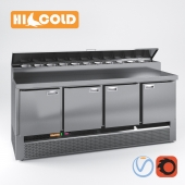 Table refrigerated pizzafied HiCold, set GN 1111, GNE 1, GN 11, GN 111