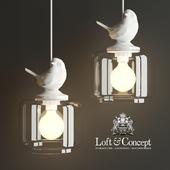 HANGING LAMP PROVENCE BIRD PENDANT