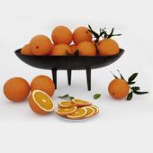 oranges in a vase