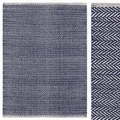 Carpet Dash & Albert Herringbone Indigo Woven Cotton Rug
