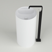 washbasin Antonio Lupi Simplo 85, mixer Gessi Rettangolo XL