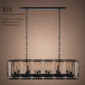 HARLOW CRYSTAL RECTANGULAR CHANDELIER 42