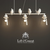 HANGING LAMP PROVENCE BIRD PENDANT LINE 3