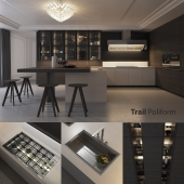 Kitchen Poliform Varenna Trail (vray, corona)