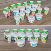 Set of dairy products packaging