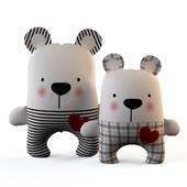 Textile toy bears