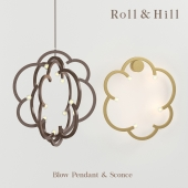 The chandelier and wall lamp Roll & Hill Blow