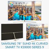 "Samsung 78"" SUHD 4K Curved Smart TV KS9000 Series 9"