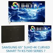 "Samsung 65"" SUHD 4K Curved Smart TV KS7500 Series 7"