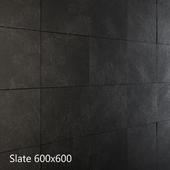 Black and gray slate