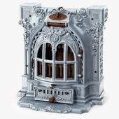 Antique Fireplace Lent Moyen Vif Salamandre