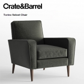 Crate and Barrel / Torino Velvet Chair